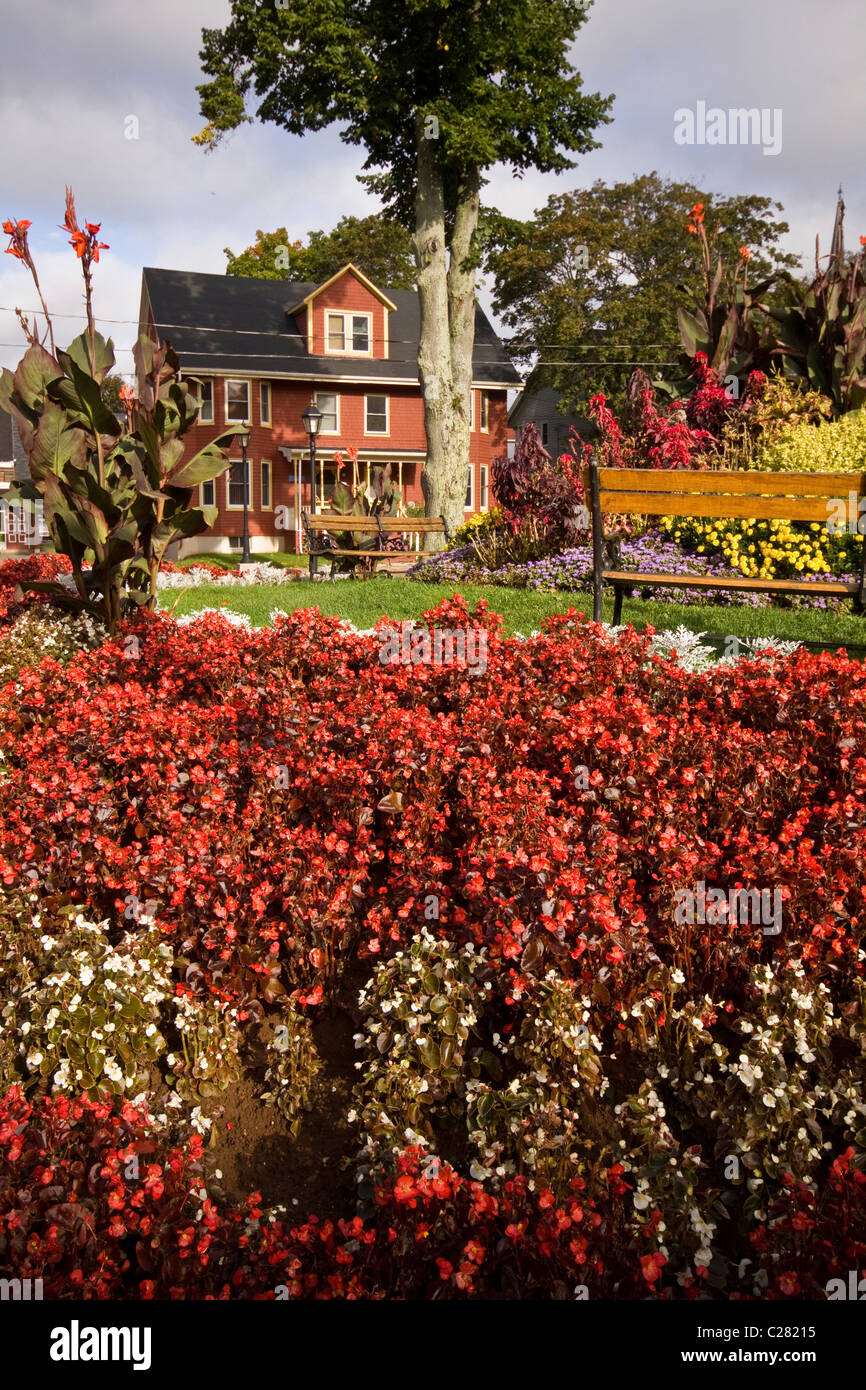 Pretty and historic gardens and neighbourhoods in Charlottetown, Prince Edward Island, Canada - Stock Image