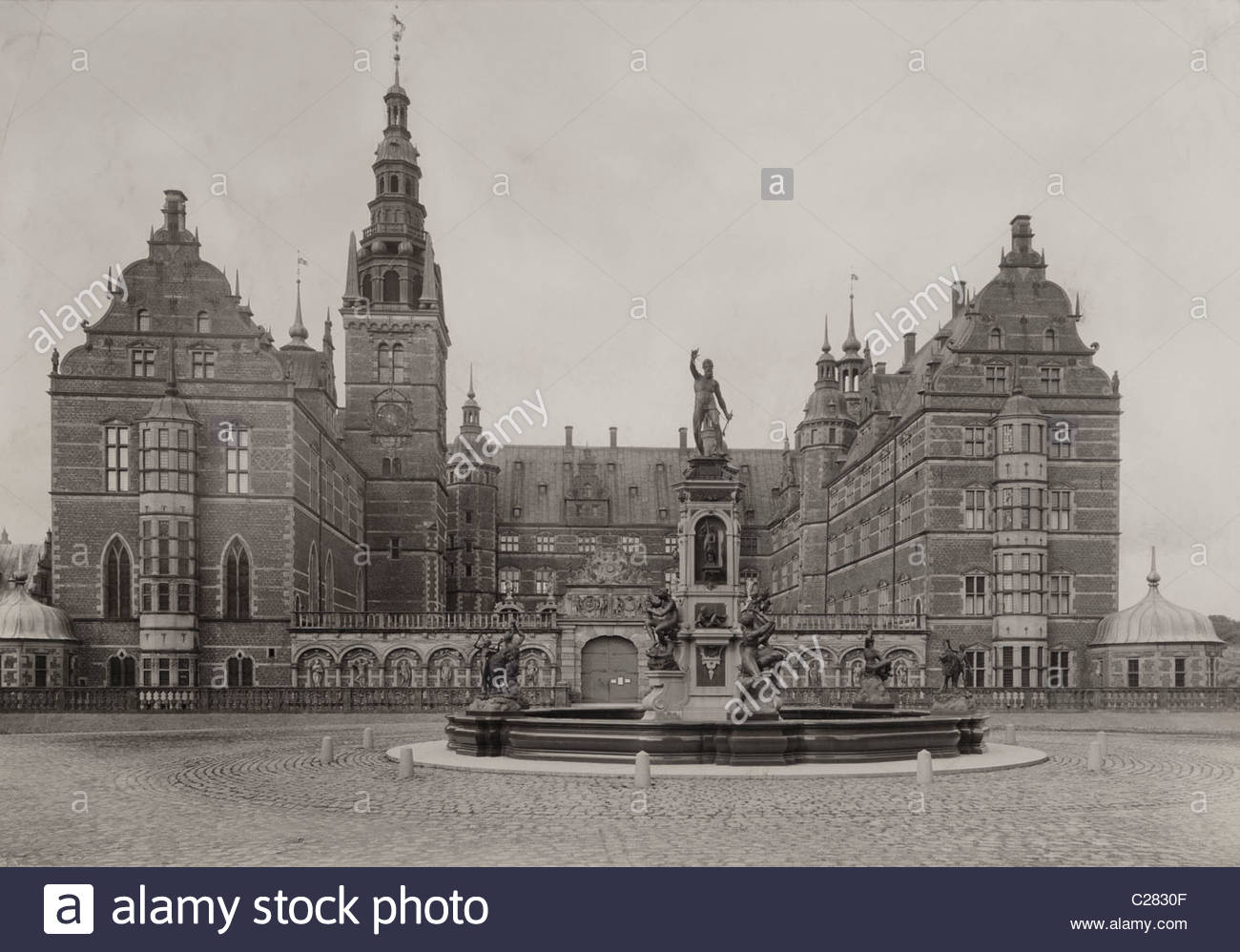 The Frederiksborg Castle, a product of the Dutch Renaissance. - Stock Image