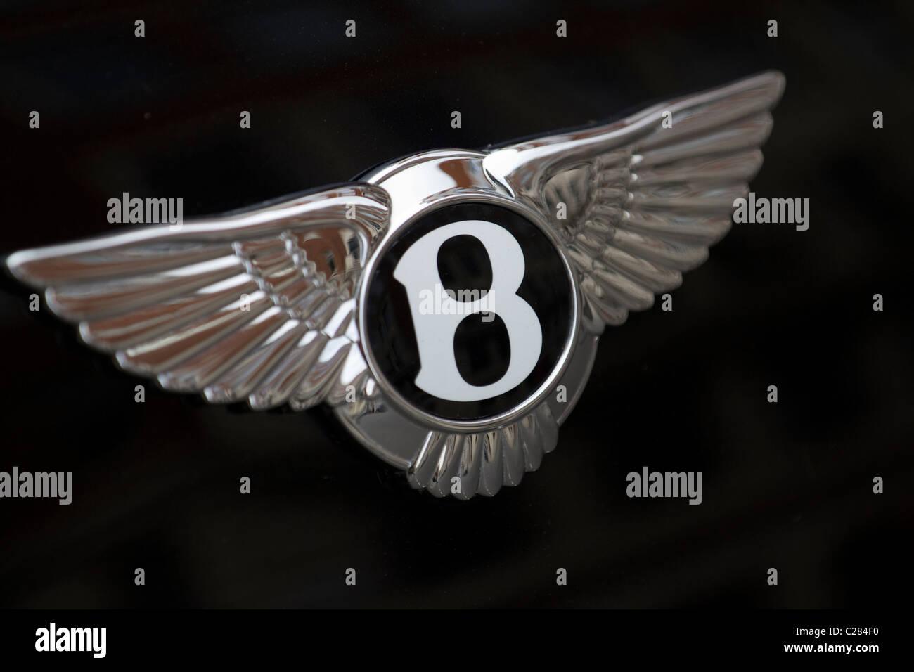 Bentley car badge - Stock Image