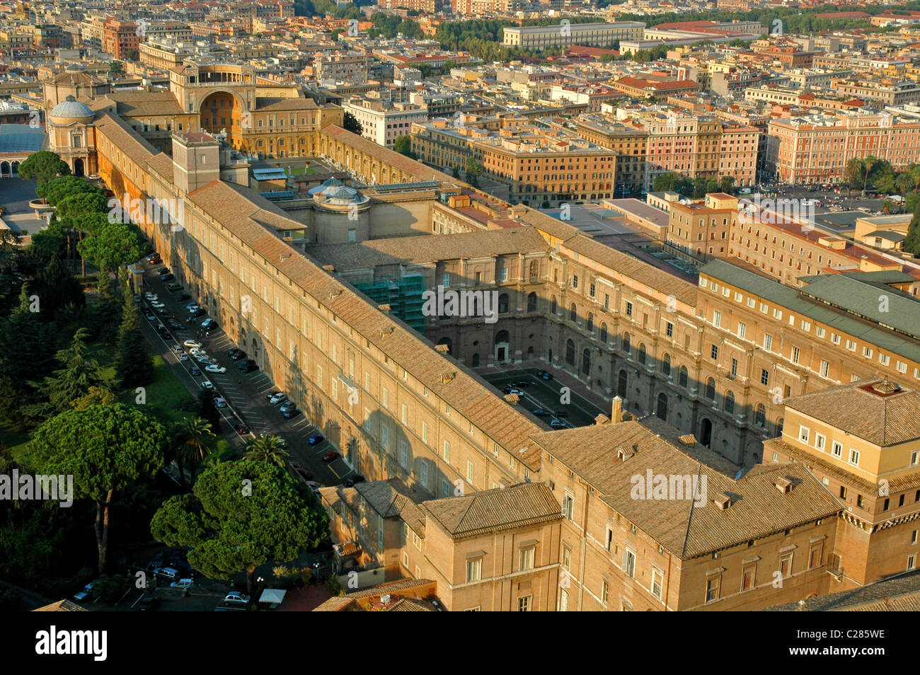 aerial view of Rome,Italy,Europe - Stock Image