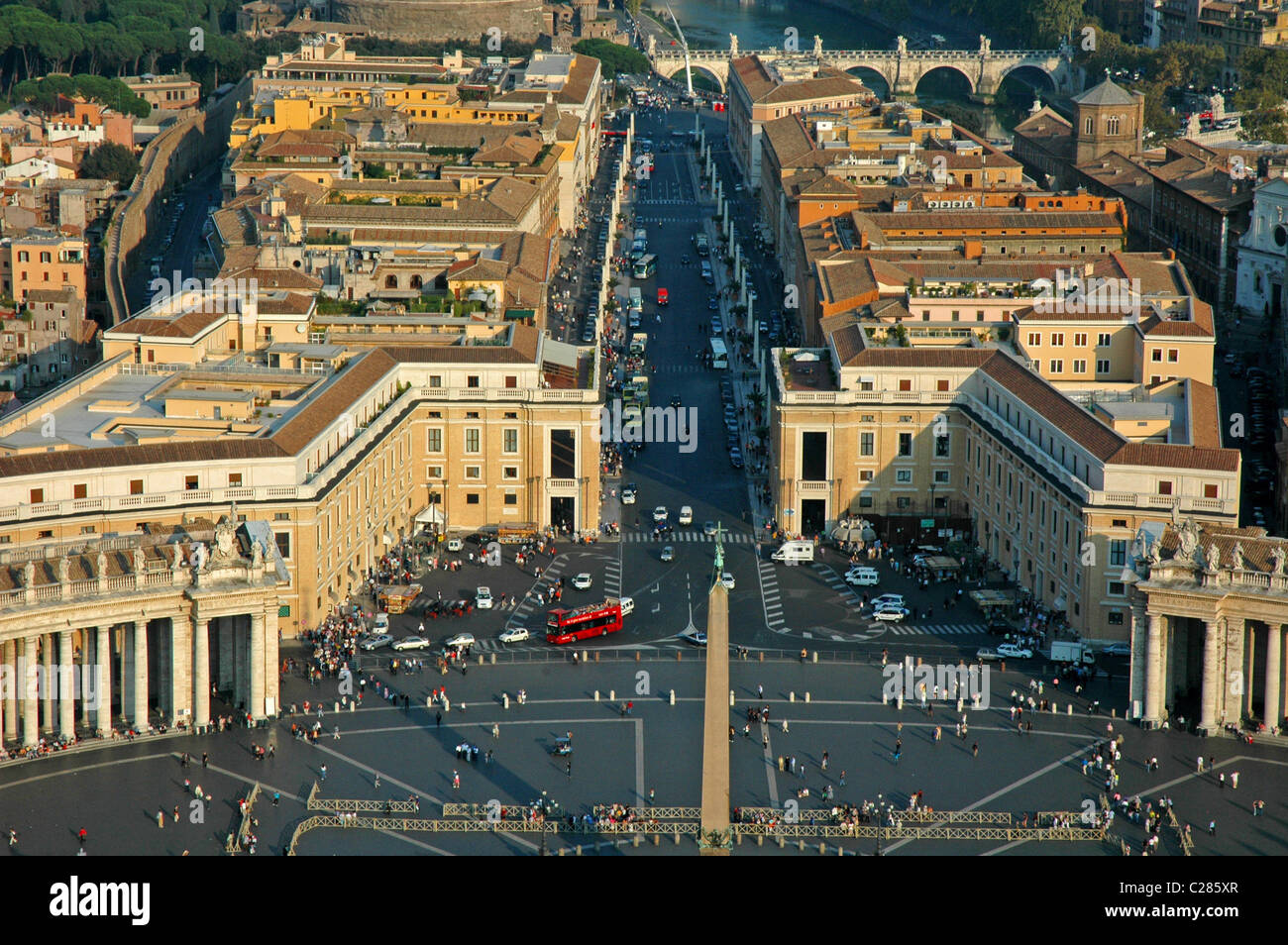 aerial view of Rome,Italy Europe - Stock Image