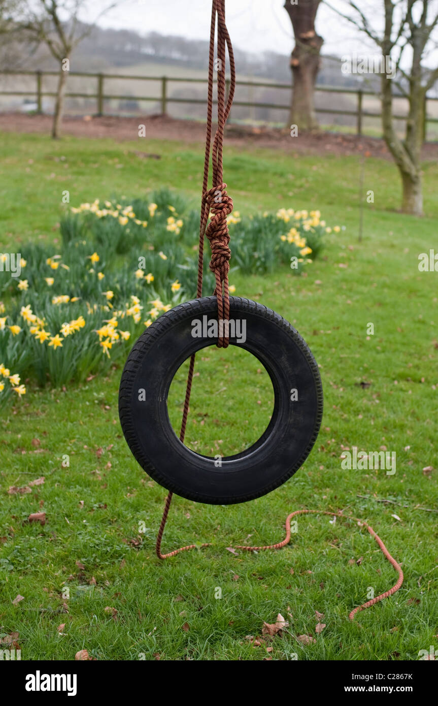 A Tyre Swing Tire Swing Set Up For Play And Idyllic Childhood Fun