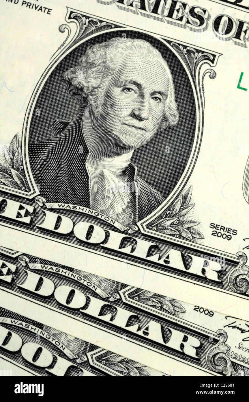 Dollar, dollars, money, American banknotes - Stock Image