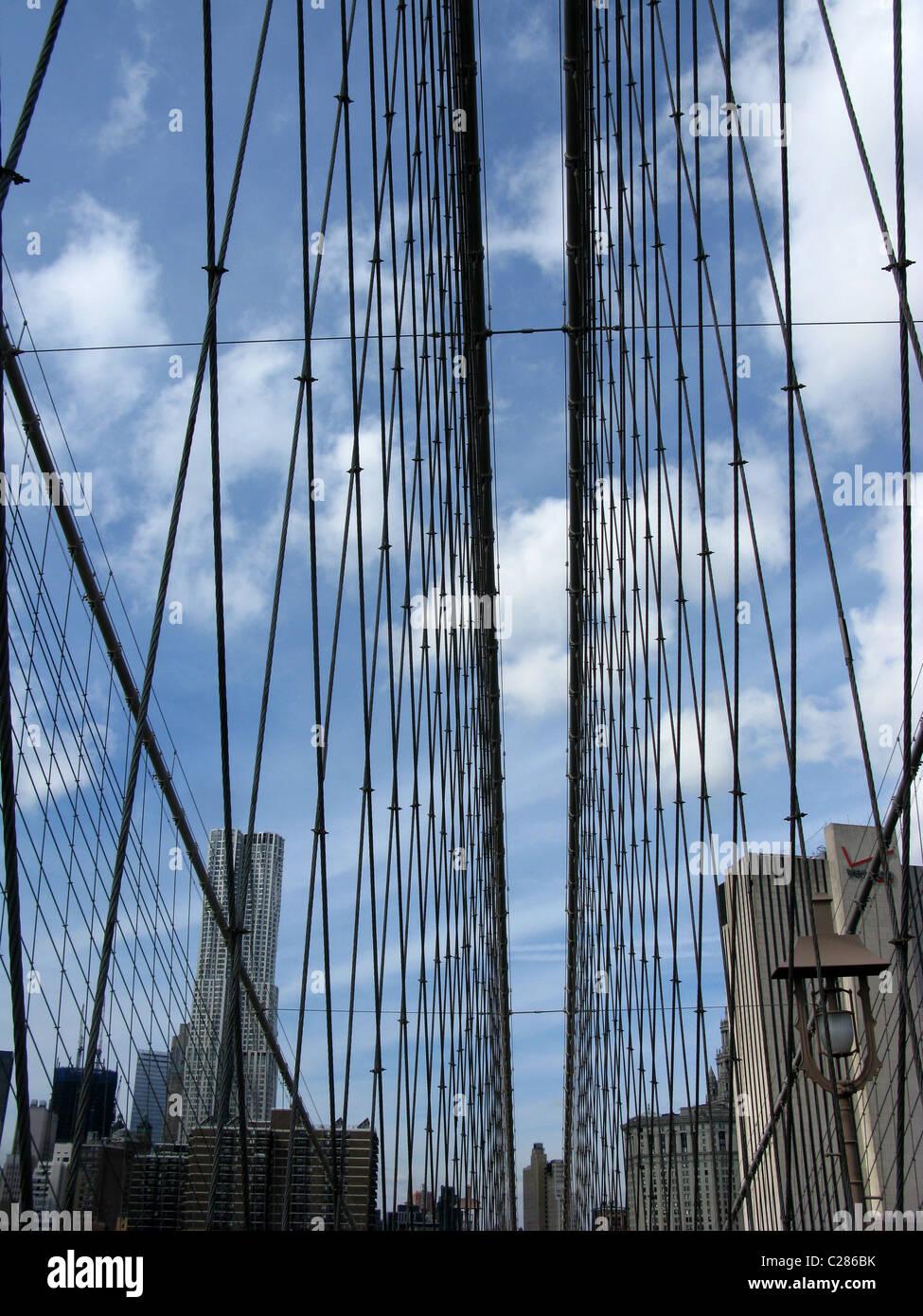 Brooklyn Bridge, New York City, USA - Stock Image