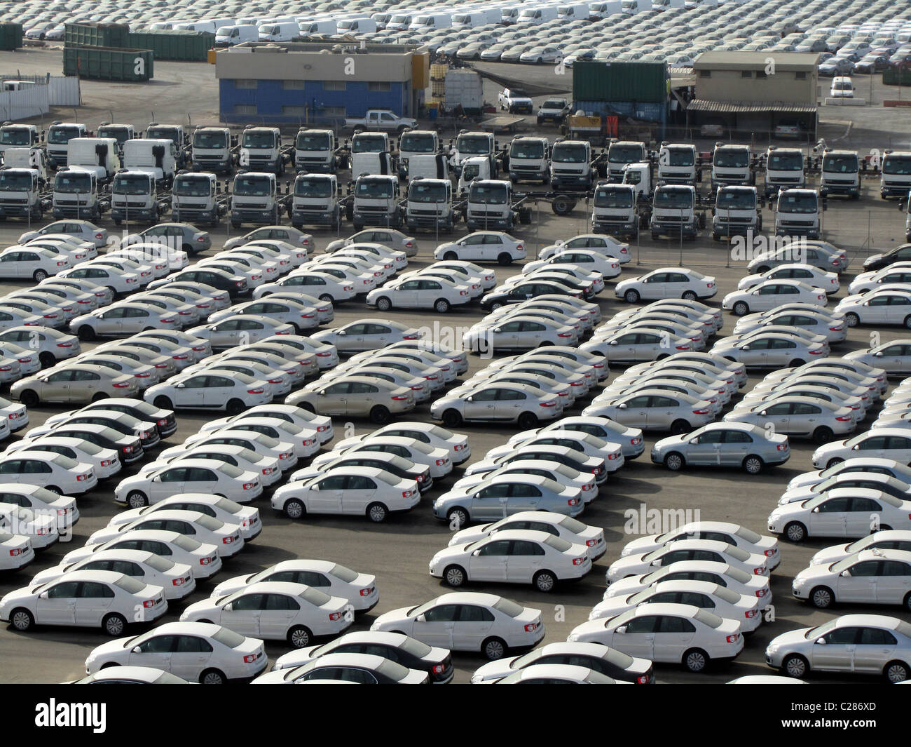 Car park with cars ready to sell, USA Stock Photo: 35831109 - Alamy