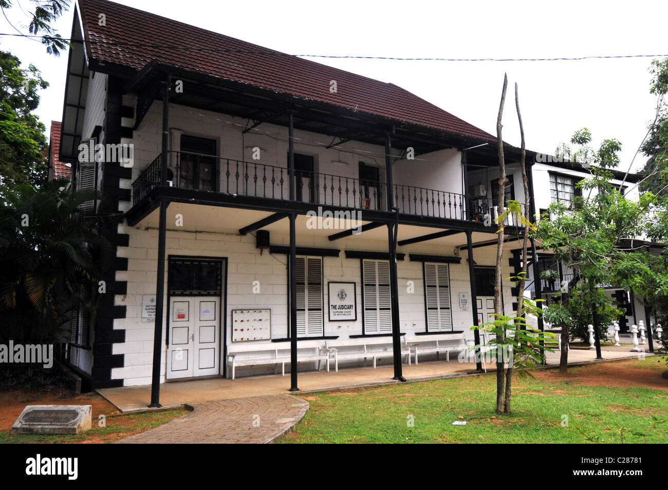 Court building, Mahe, Seychelles - Stock Image