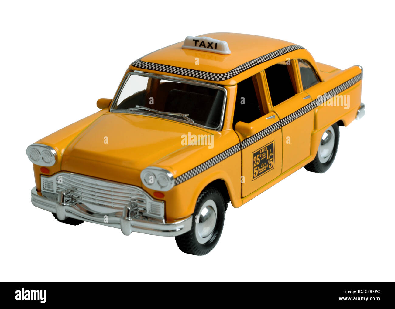 New York taxi, toy New York taxicab - Stock Image