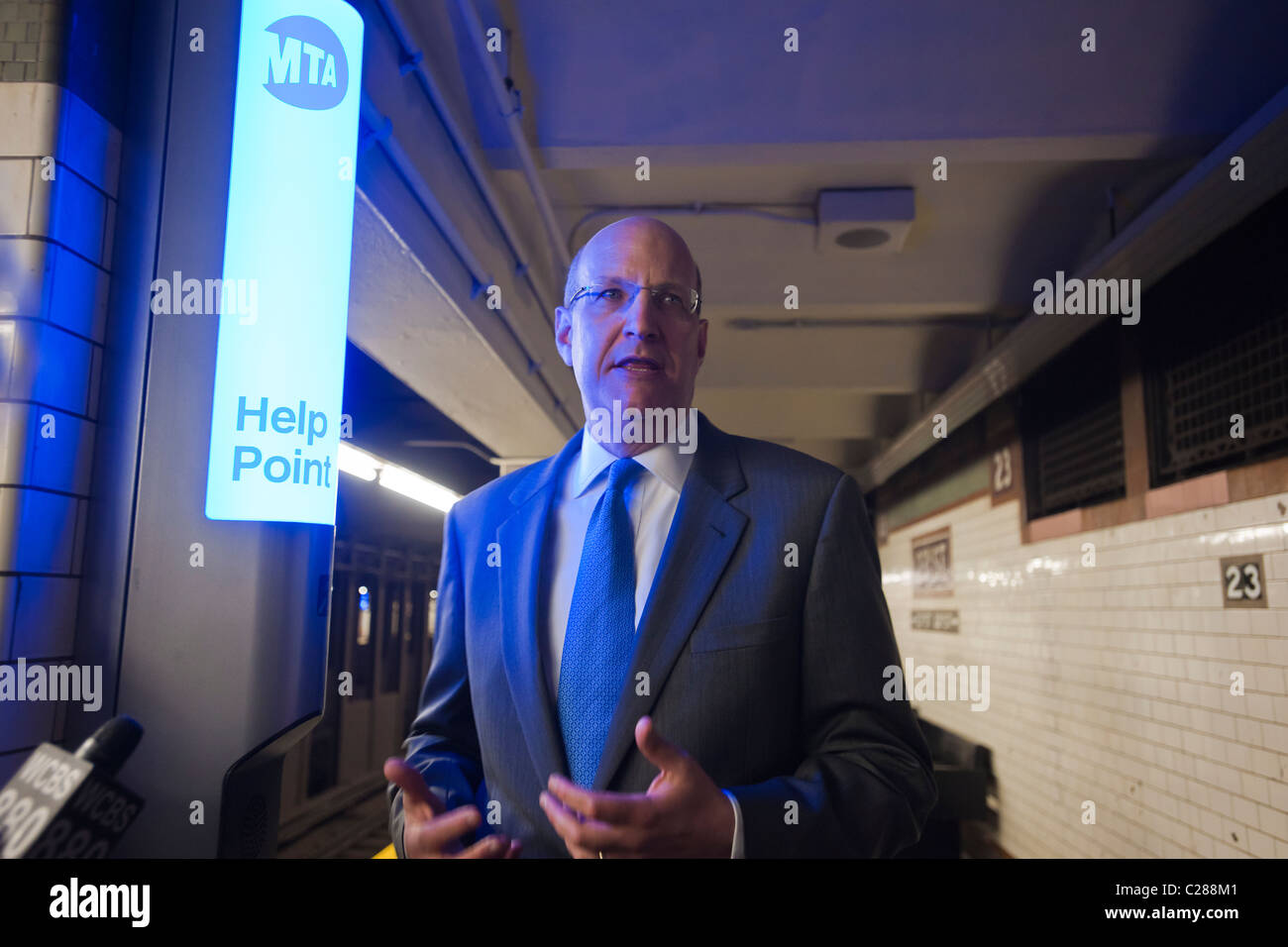 MTA Chairman Jay Walder at the NYC Transit Authority test of the new