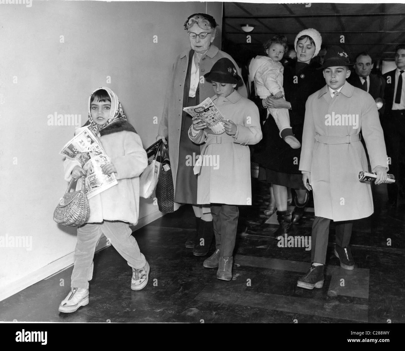 Liz Taylor's kids come to visit - Stock Image