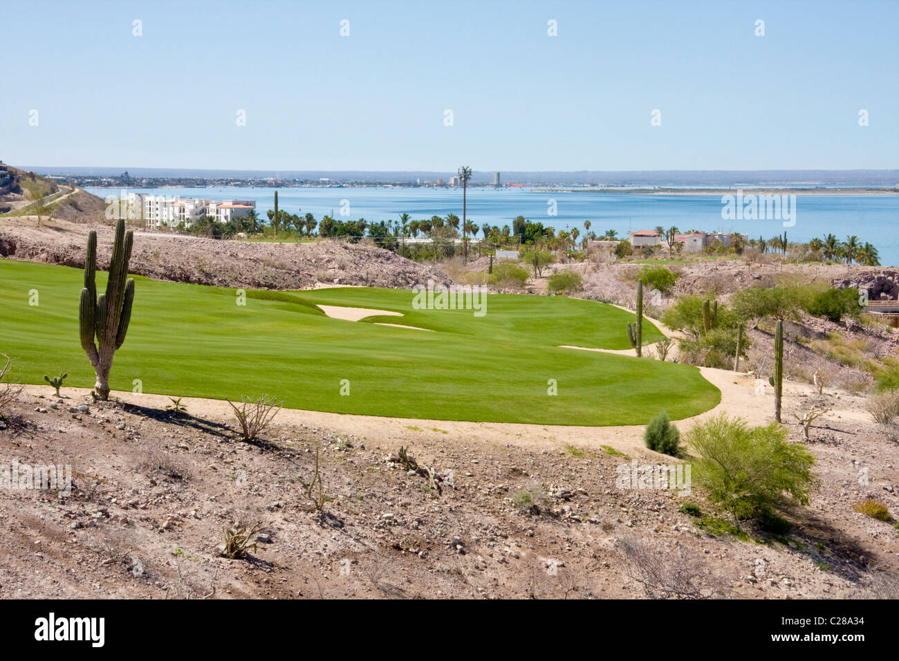 Mexico's first Gary Player golf course, Costa Baja Resort, La Paz, Baja Sur, Mexico. - Stock Image