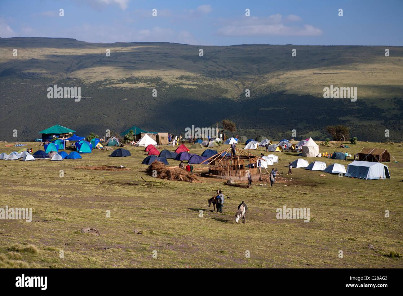 Geech Camp Simien Mountains Stock Photos & Geech Camp Simien