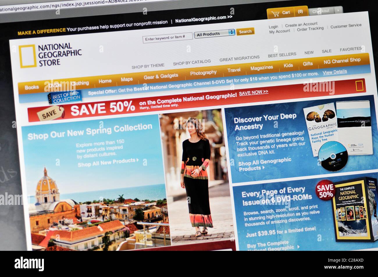 National Geographic magazine website - Stock Image