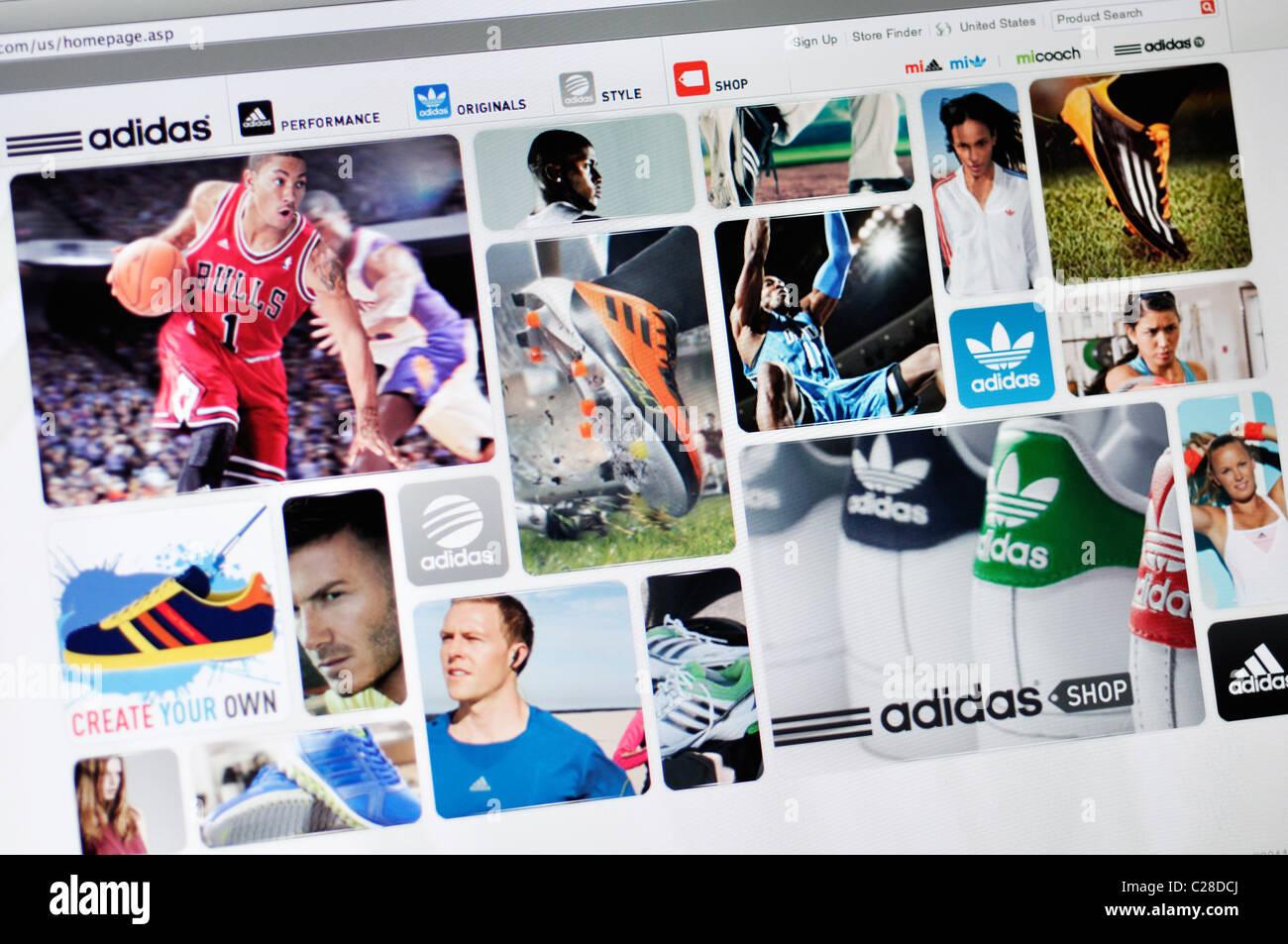 autopista predicción cómo  Adidas sports apparel website Stock Photo - Alamy