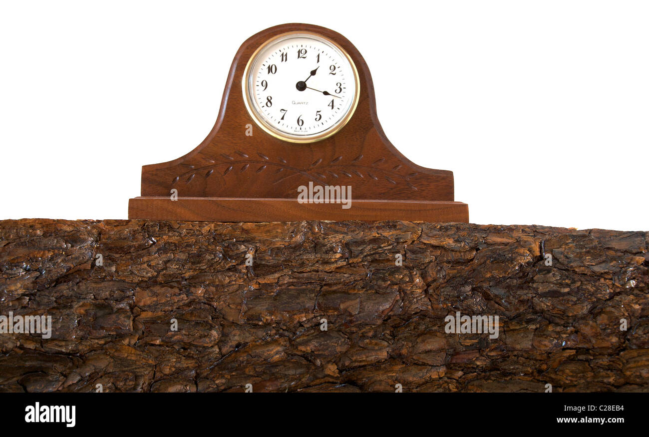 Clock on Mantle - Stock Image