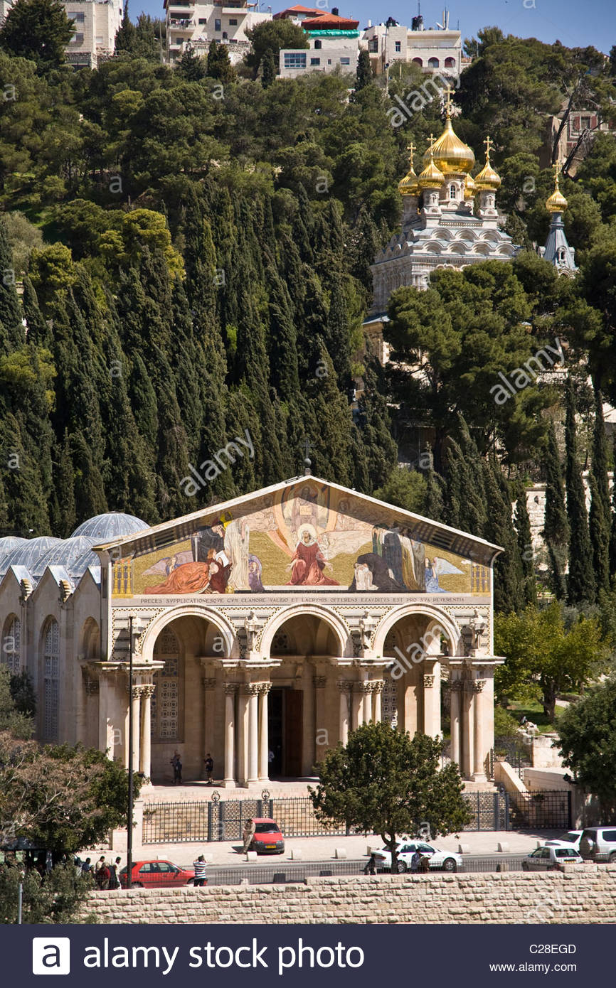 The Church of All Nations, officially, the Basilica of the Agony. - Stock Image