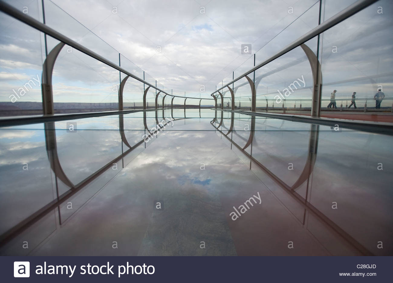 A View Of The Skywalk Over The Grand Canyon Stock Photo