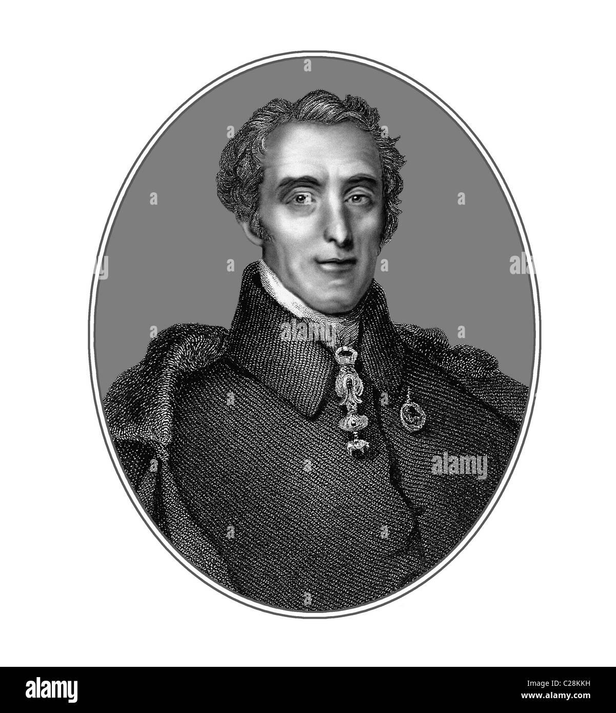 Duke of Wellington 1769 1852 Irish born Soldier Statesman Illustration from an Engraving - Stock Image