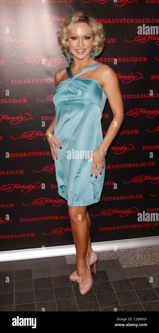 Kristina Rihanoff  Ed Hardy - Store Launch Party at the Westfield Centre London, England - 01.12.09 - Stock Image