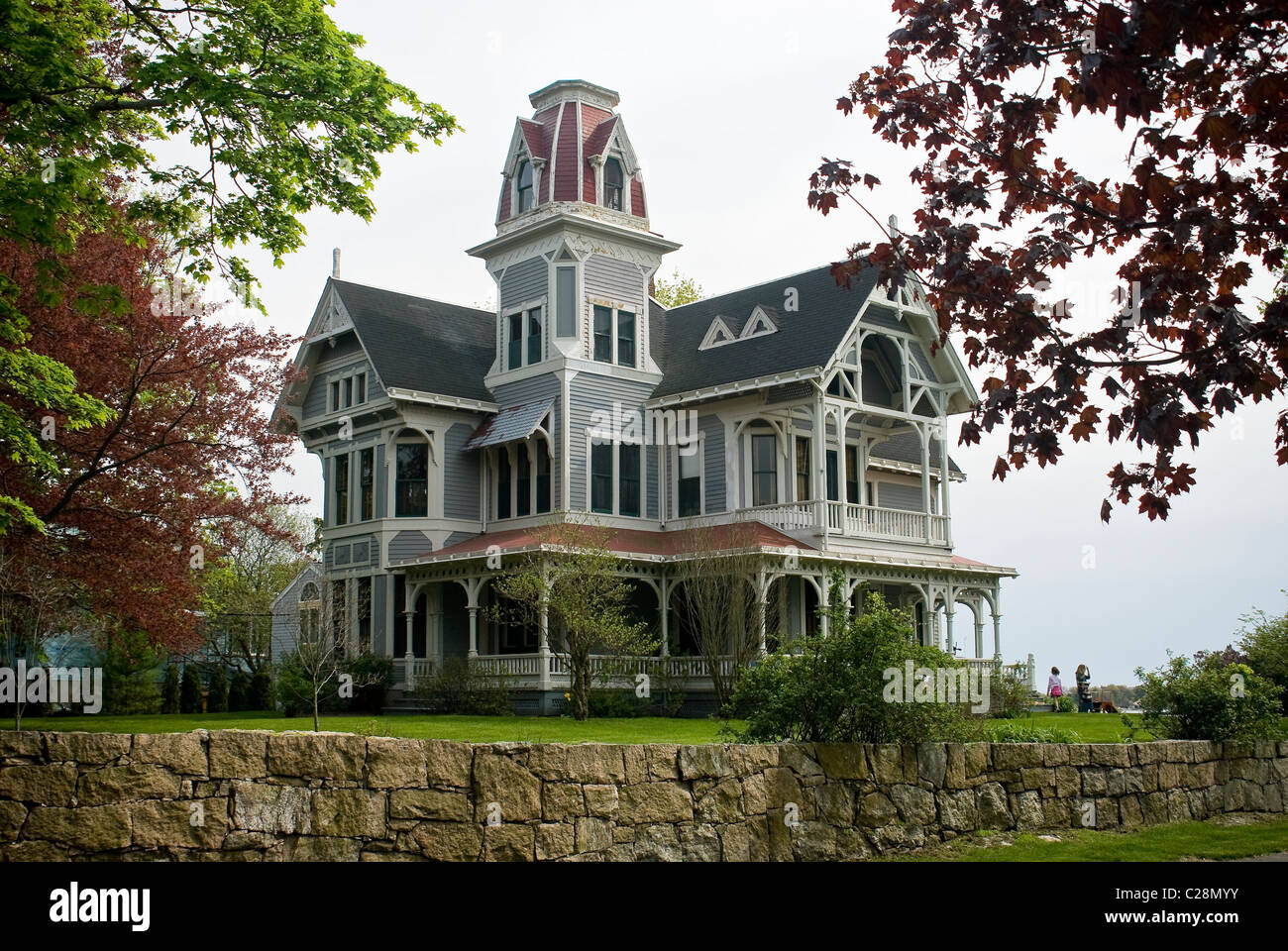 New HavenOld Gothic Victorian House Near The Thimble Islands Connecticut USA