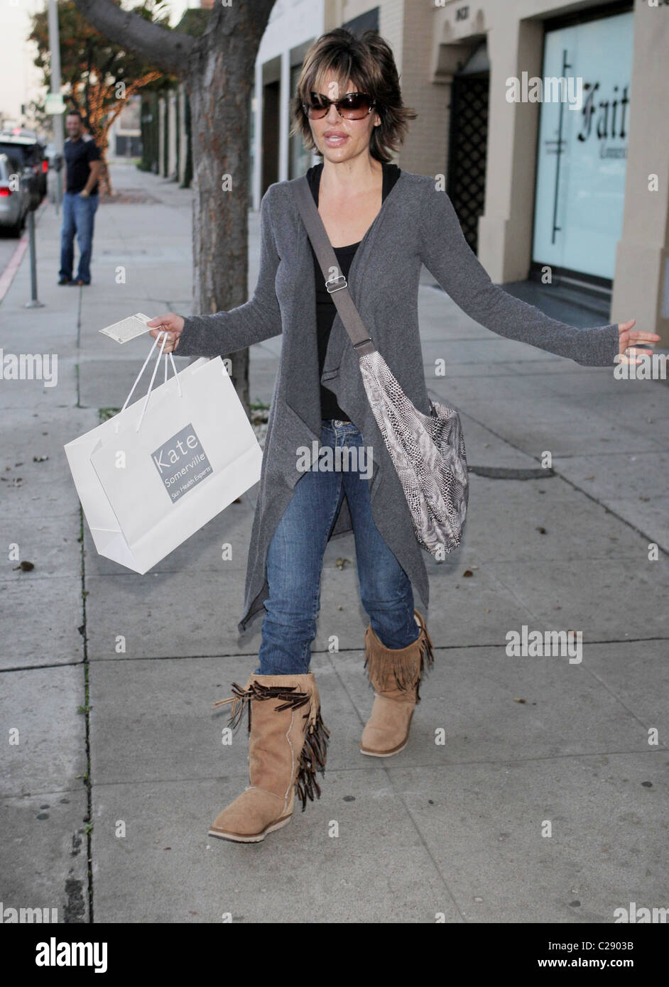 Lisa Rinna leaving the Kate Somerville Skin Clinic in West