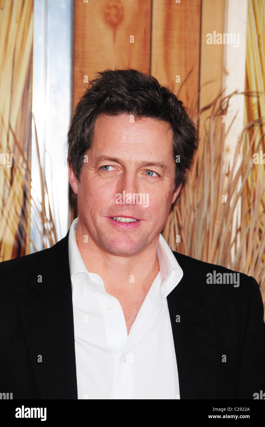 Hugh Grant New York premiere of 'Did You Hear About the Morgans?' held at the Ziegfeld Theatre New York - Stock Image