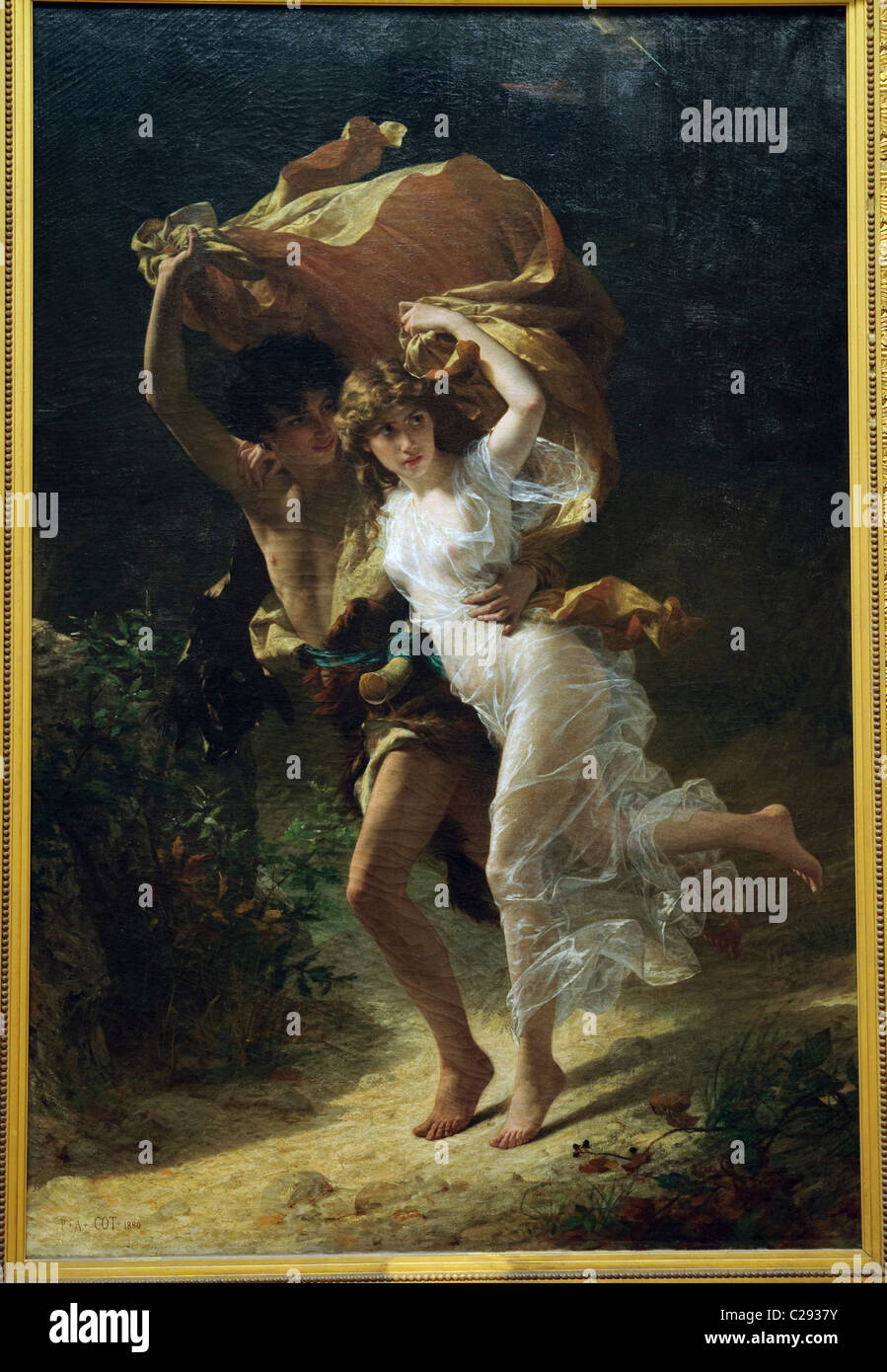 The Storm,1880, by Pierre-Auguste Cot - Stock Image