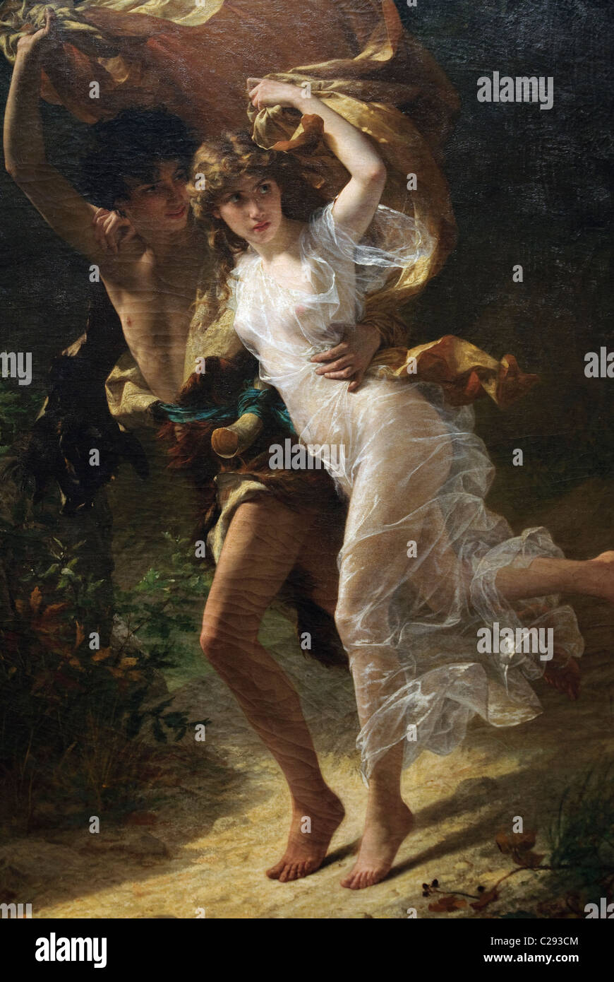 Detail: The Storm,1880, by Pierre-Auguste Cot - Stock Image