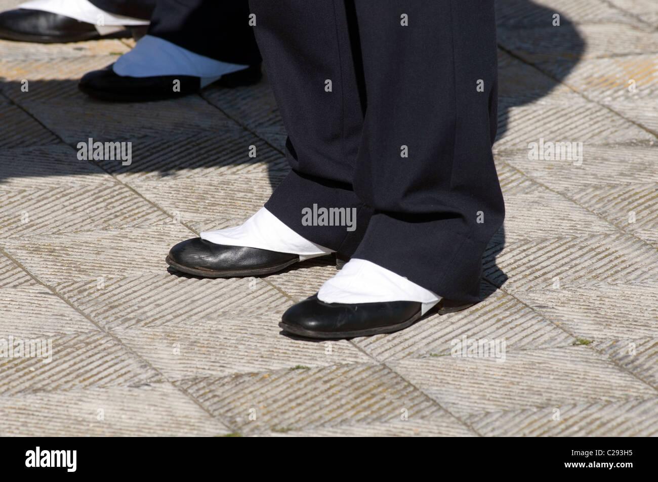 spats spat footwear foot wear shoes ceremonial dress shoe shoes feet foot Stock Photo