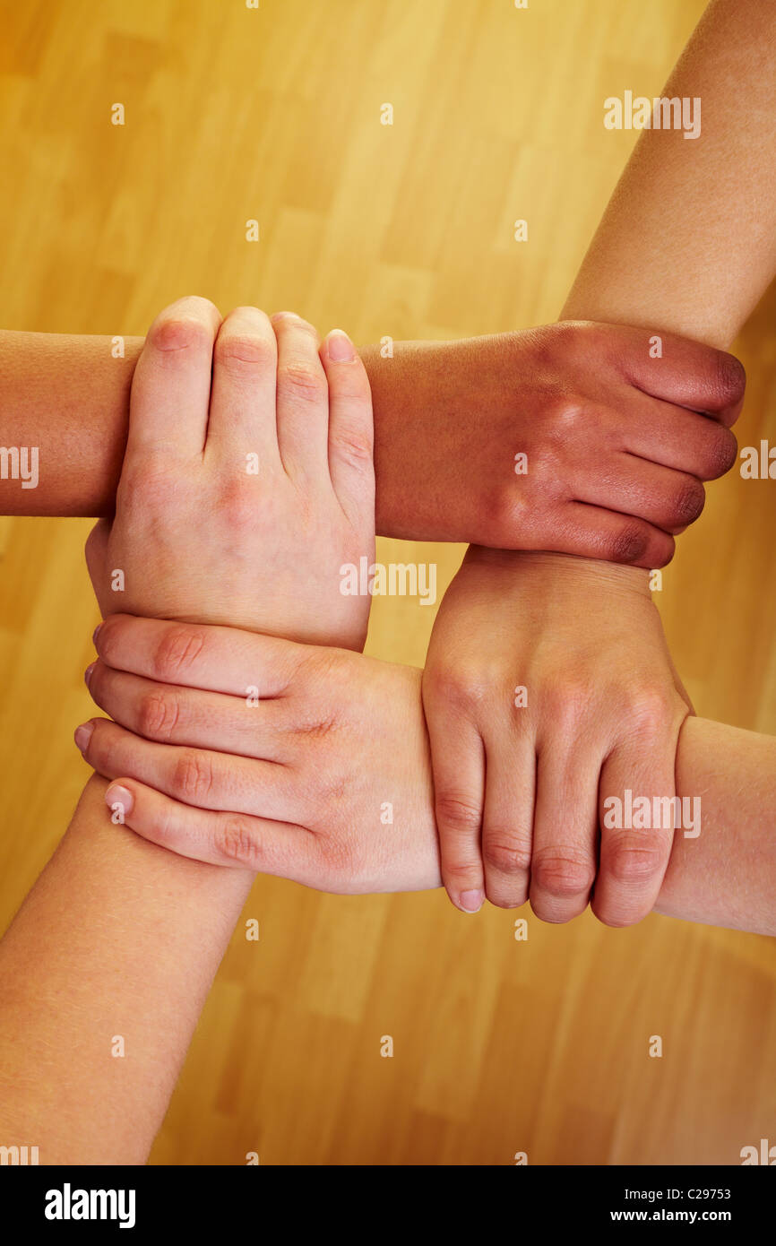 Chain of hands - Stock Image
