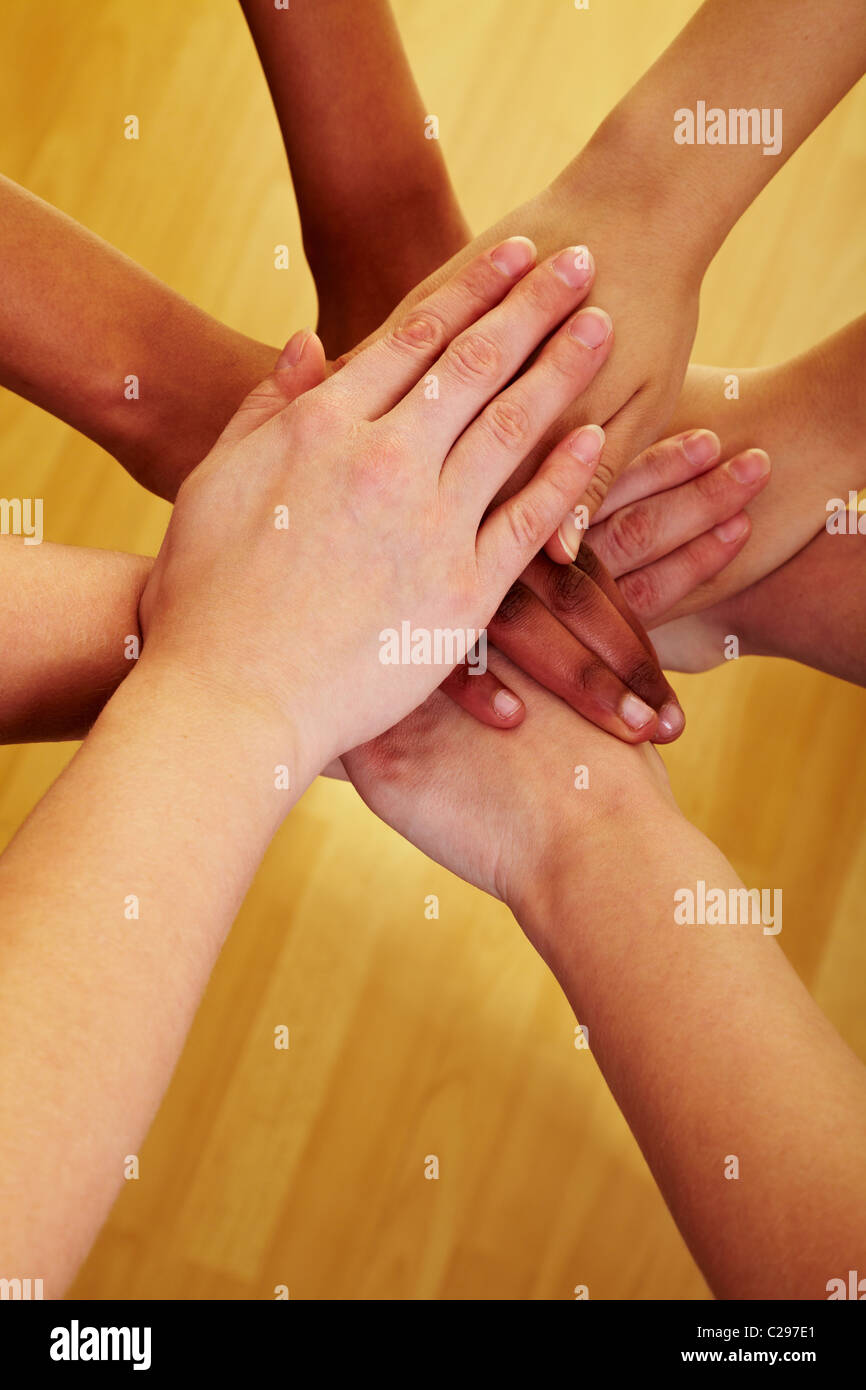 Joined hands - Stock Image