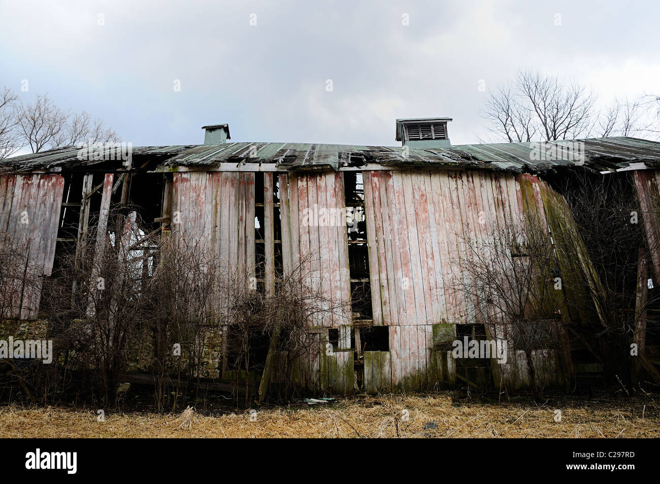Decaying barn in Northern Illinois, USA. - Stock Image
