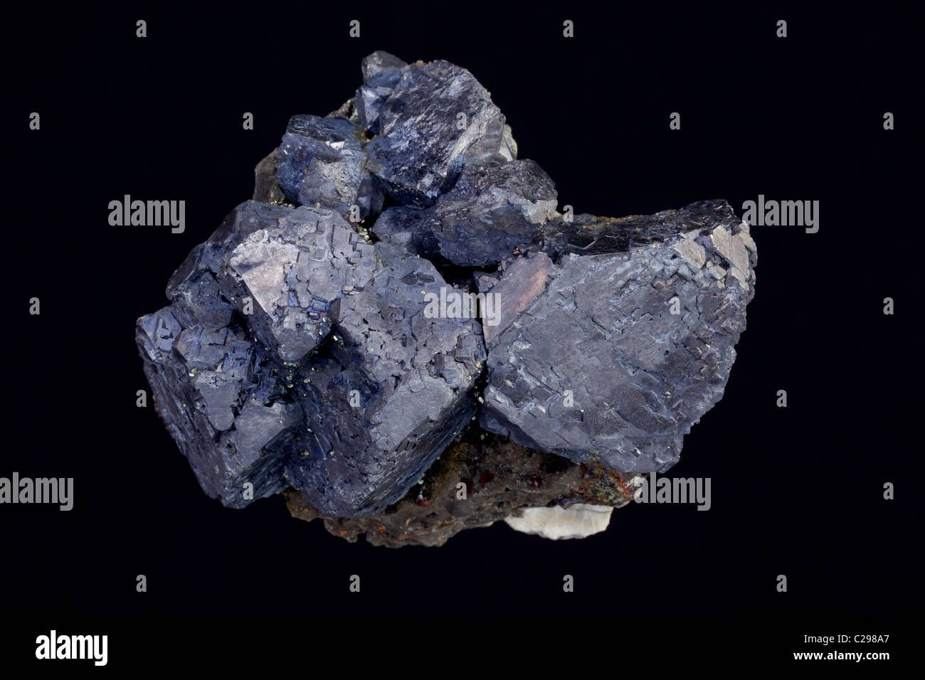 Galena (PbS - lead sulfide) - Sweetwater Mine - Reynolds County - Missouri - USA - The primary ore of lead - Stock Image