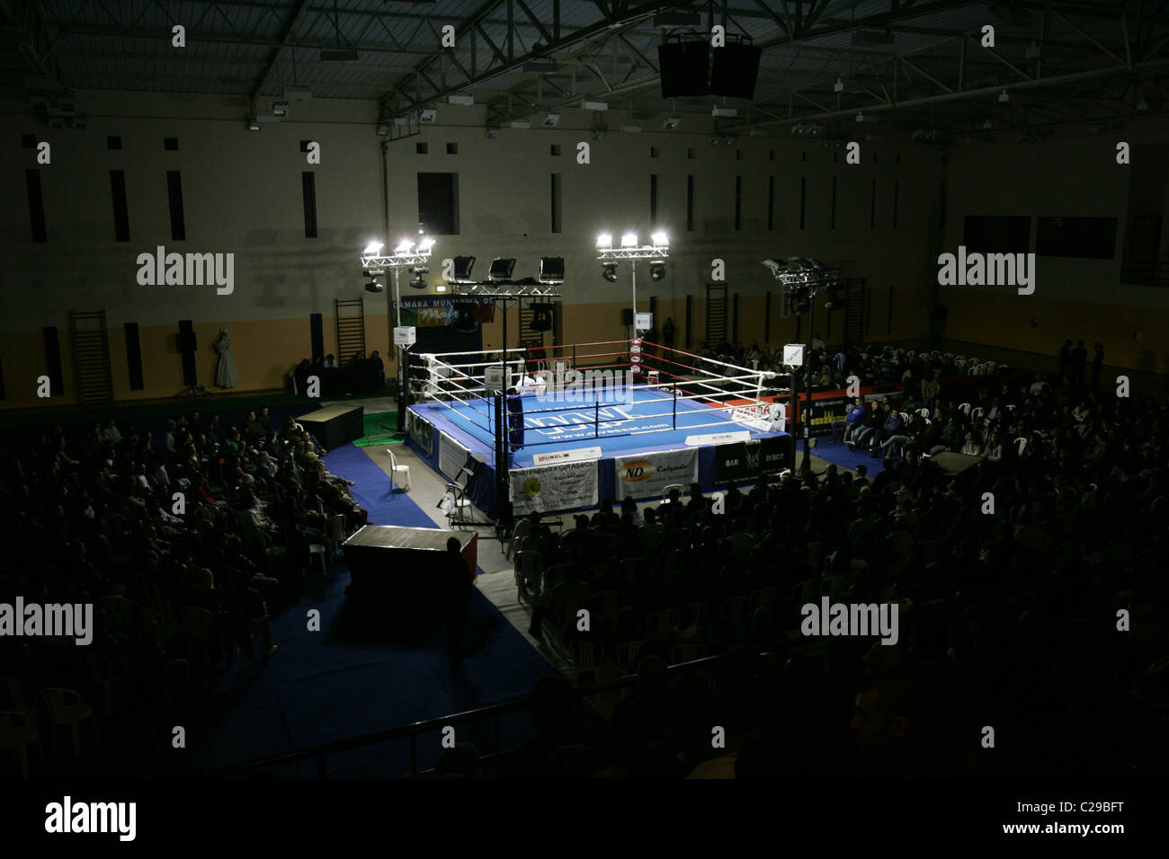 Empty boxing ring. - Stock Image