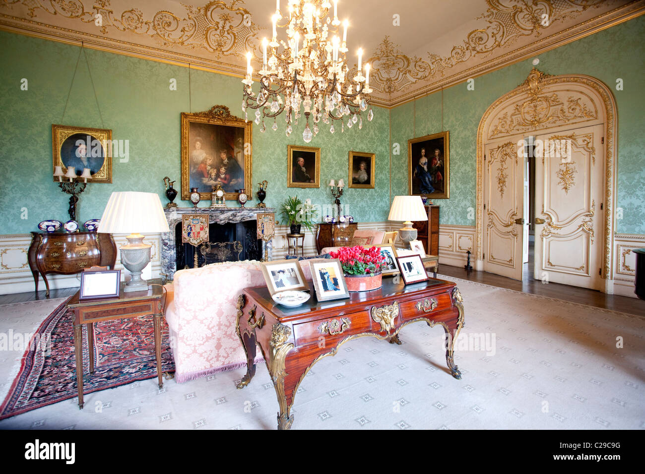 The Drawing Room, Highclere Castle, home of Lord and Lady Carnarvon ...