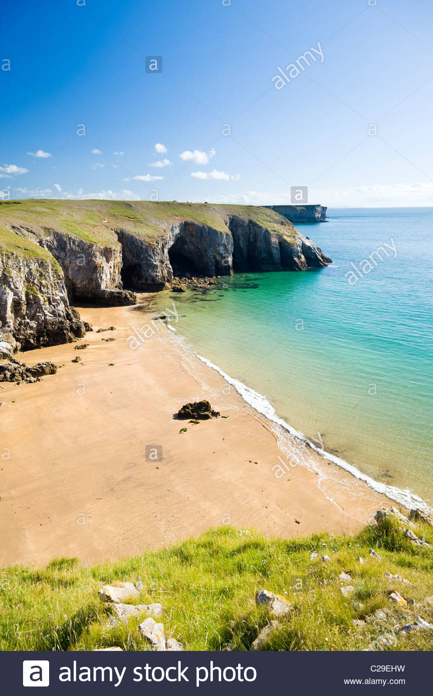 Box Bay, Pembrokeshire Coast National Park, South Wales, UK. - Stock Image