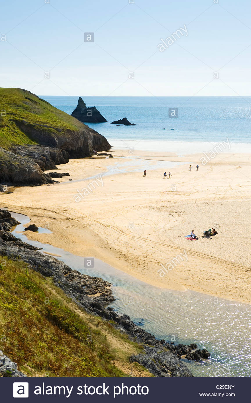 The beach at Broad Haven, Pembrokeshire Coast National Park, South Wales, UK. - Stock Image