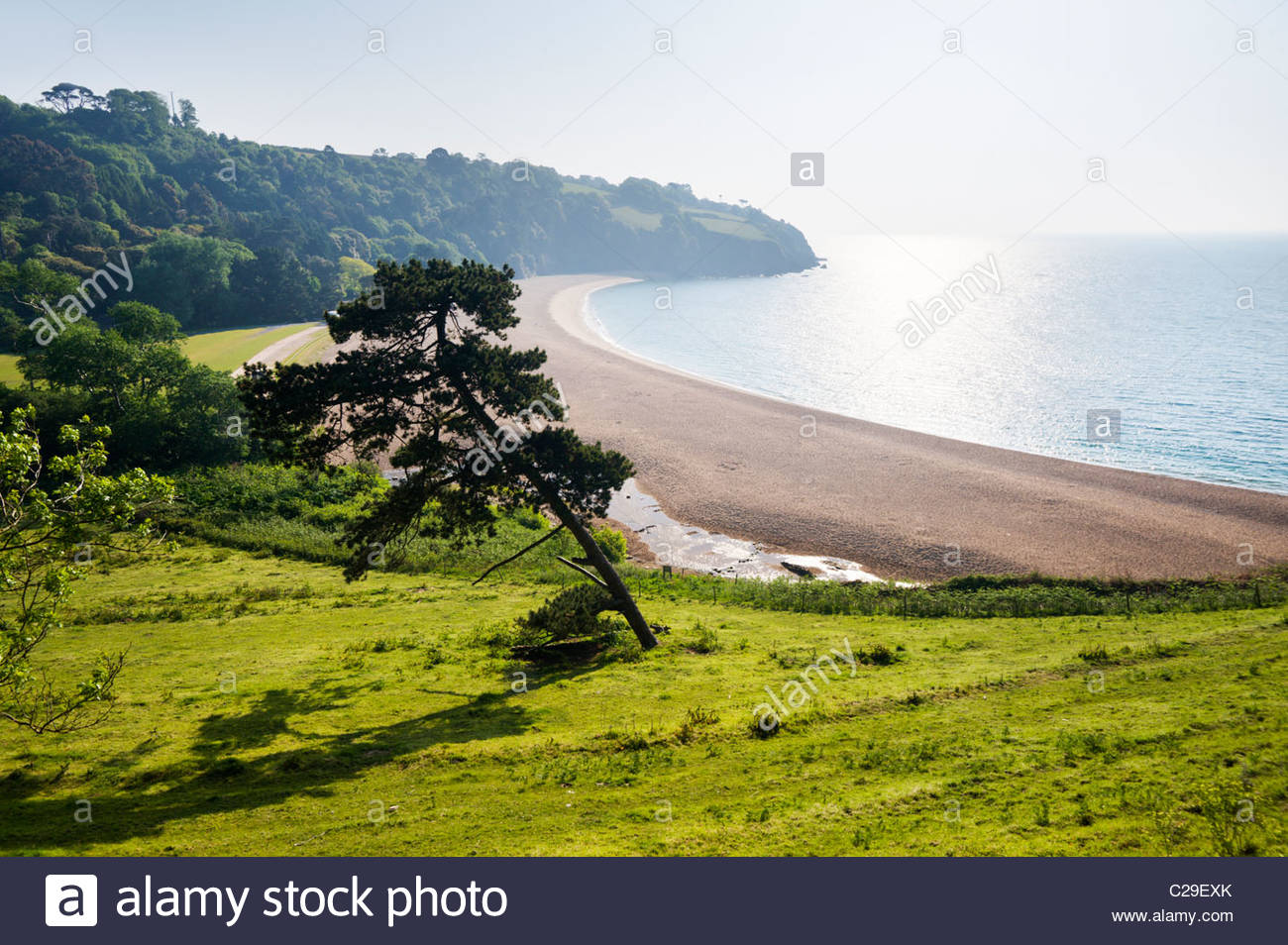 Blackpool Sands, South Hams, Devon, England. - Stock Image