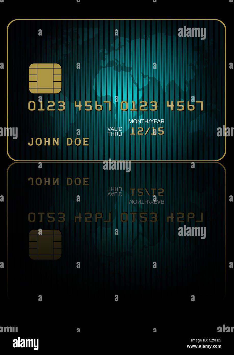 Credit card with world map on black background stock photo 35859689 credit card with world map on black background gumiabroncs Choice Image