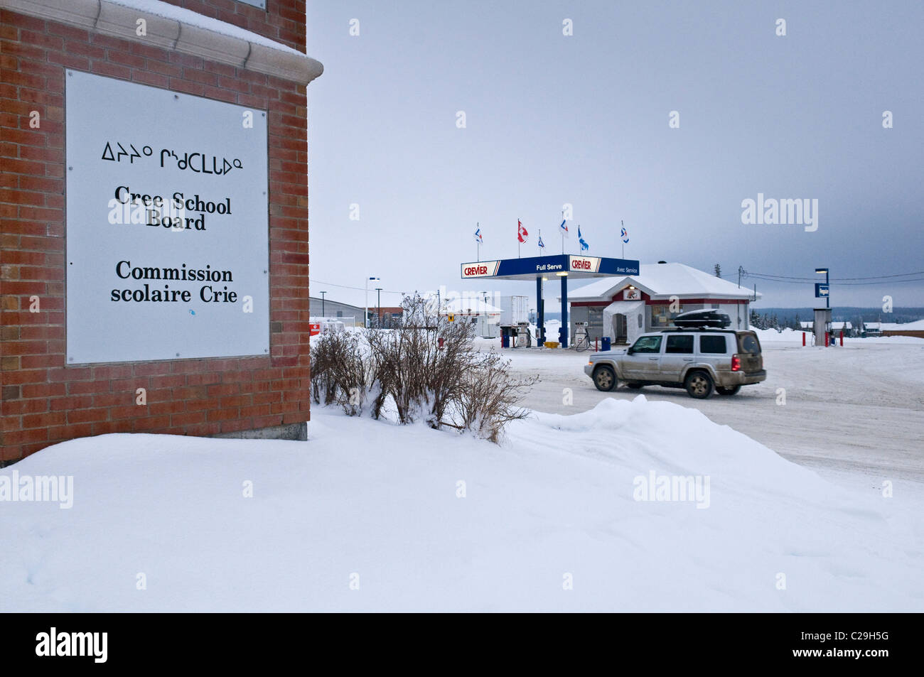 Cree native community of Mistissini in Northern Quebec Canada - Stock Image
