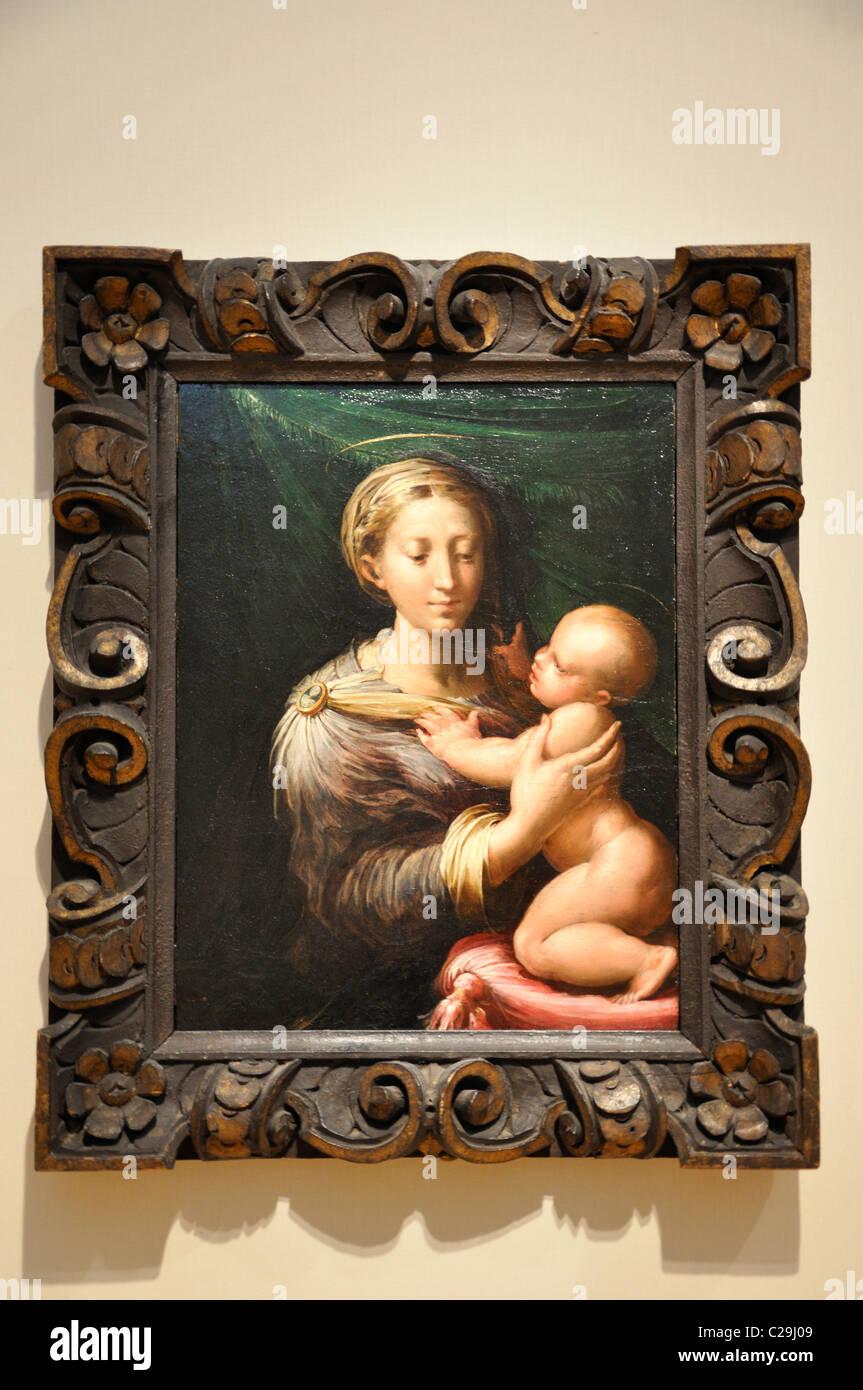 The Madonna And Child By Parmigianino (Girolamo Francesco Maria Mazzola)  1527u201330