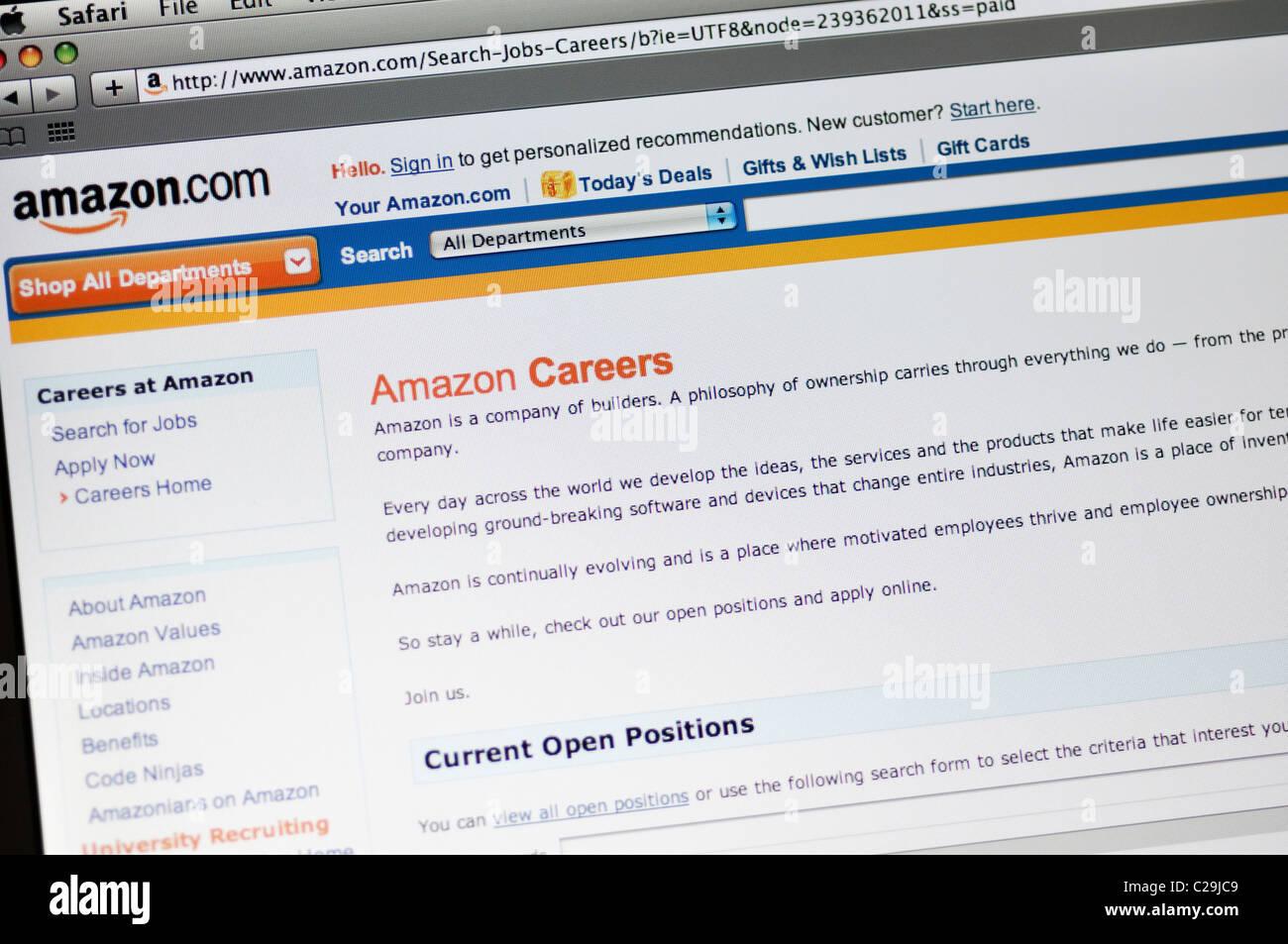 Amazon careers website Stock Photo: 35862073 - Alamy