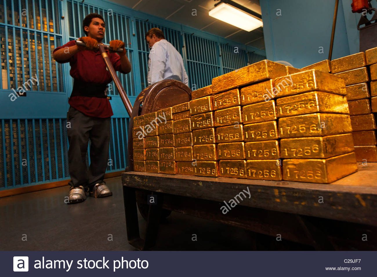 The Gold Vault At The Federal Reserve Bank Of New York Stock Photo