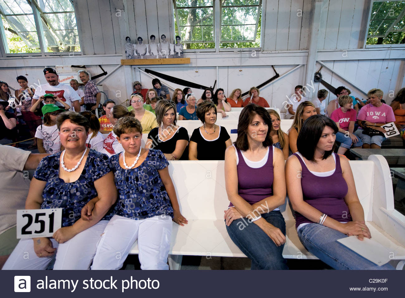 The Look-alike Contest for mothers and daughters. - Stock Image