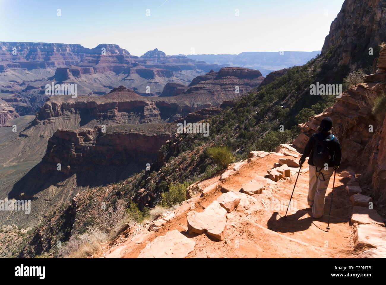 South Kaibab Trail, Grand Canyon National Park, Arizona, USA. - Stock Image