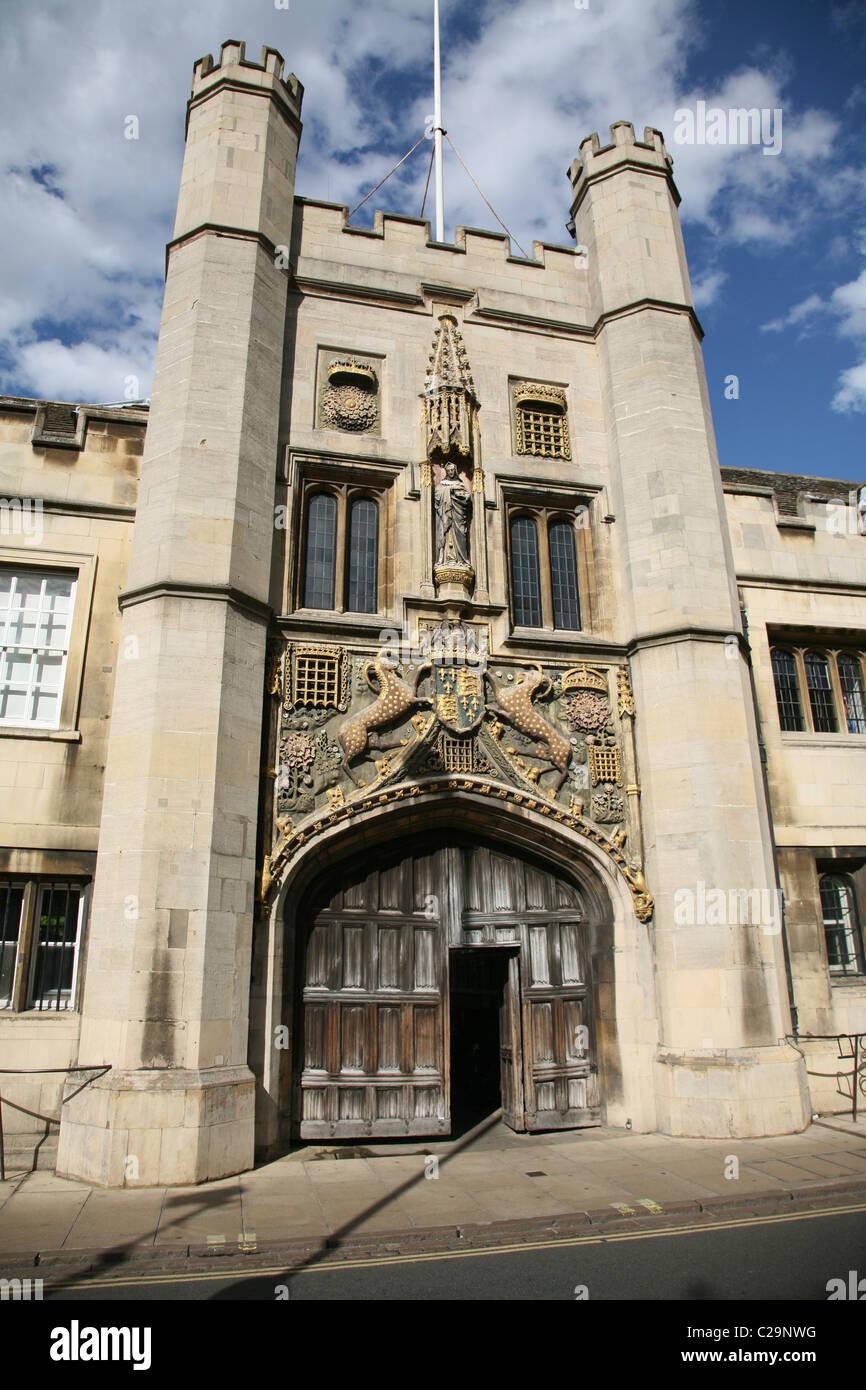 Cambridge University entrance to Jesus College - Stock Image