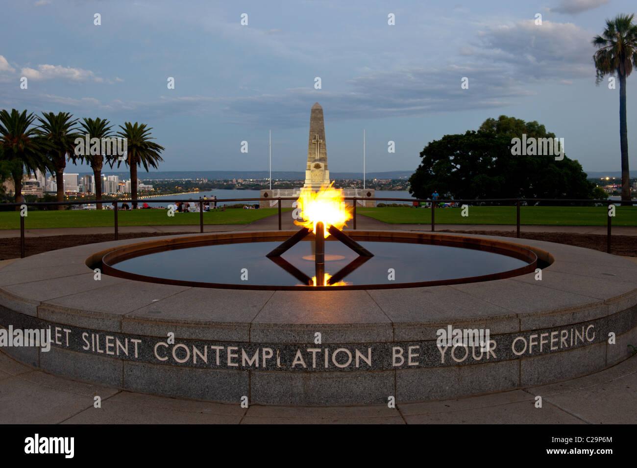 State War Memorial Precinct king park Perth Western Australia. - Stock Image