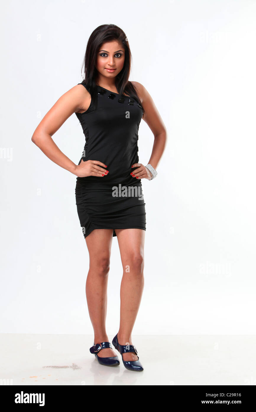 b756145d16 Indian girl in black dress Stock Photo: 35865682 - Alamy