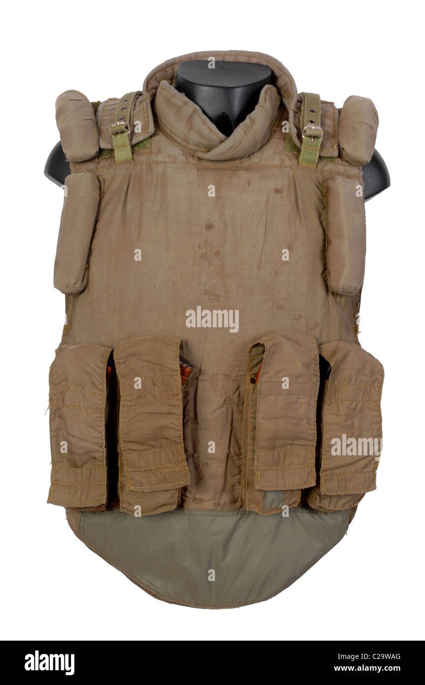 Russian 6B5 body armour was used in large numbers during the Chechnya conflicts, in the Balkans, and is still in - Stock Image