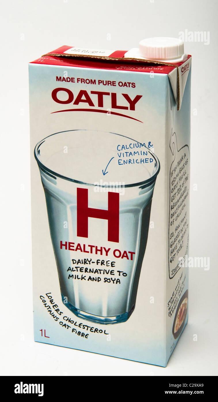'Alternative milk' Oatly milk oat milk - Stock Image