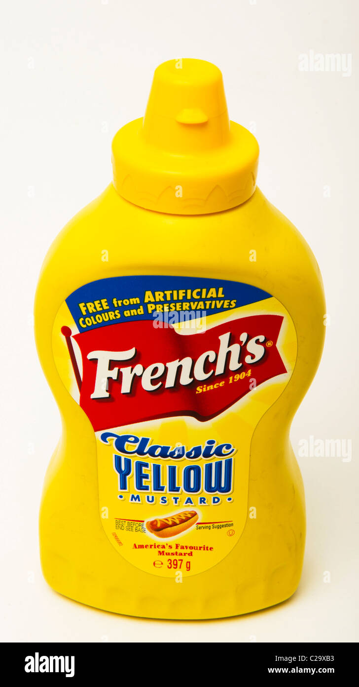 classic yellow 'hot dog' mustard - Stock Image